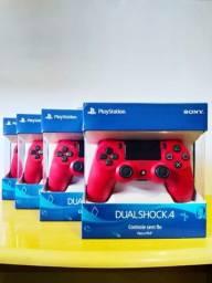 Controle Manete PS4 Vermelho Magma Lacrado (Com Nota Fiscal)