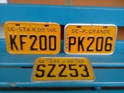 Raras placas amarelas antigas para motos colecionadores