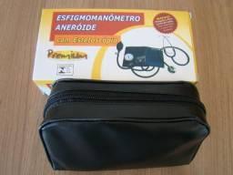 Esfigmomanômetro Aneróide com Estetoscópio - Premium