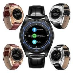 Smartwatch Tq920 Android Ios Chip Celular Gsm relógio inteligente pulseira de couro