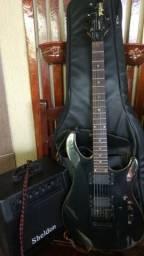 Vendo Guitarra Tagima Vulcan Special preta e acessórios