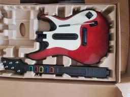 Bateria completa com Guitarra e microfone sem fio Guitar Hero