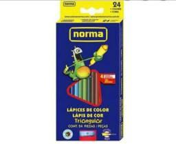Kit com 4 caixas Lápis de Cor Norma