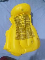 Colete inflável salva vidas 3 a 6 anos amarelo