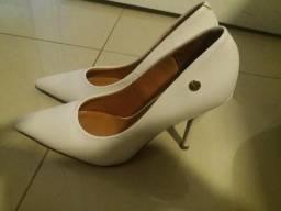 Sapato scarpin noiva Vizanno branco 35