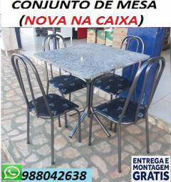 Promoção Imperdivel!!Conjunto de Mesa 4 cadeiras Perfeita para Apartamento Apenas 399,00
