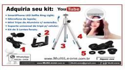 Kit Youtube para gravações de vídeos e Selfies
