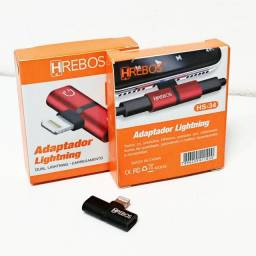 Adaptador Áudio E Carga Lightning Iphone Hrebos Hs 34