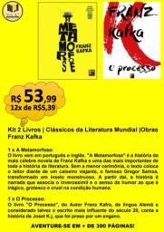 KIT 2 LIVROS | CLÁSSICOS DA LITERATURA MUNDIAL |OBRAS FRANZ KAFKA