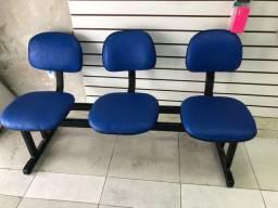Cadeiras longarinas 3 lugares