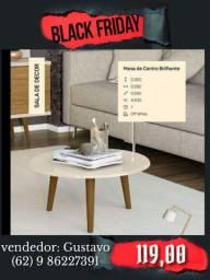 mesa de centro off white na promoção