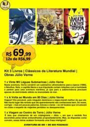 KIT 3 LIVROS | CLÁSSICOS DA LITERATURA MUNDIAL | OBRAS JÚLIO VERNE