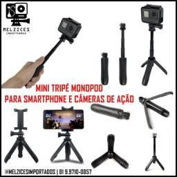 Título do anúncio: Mini Tripé Monopod Para Smartphone e GoPro e Similares