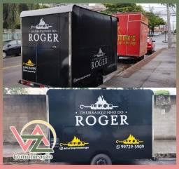 Adesivamento Trailer, Food Truck, Food Bike e Carrinhos Lanche