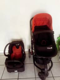 Carrinho 3 em 1 com Bebê Conforto e Moisés  - Ótimo estado - Safety 1st