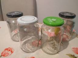 Vidros de palmito vazios 300g (7 vidros)