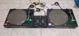Par de Toca discos Technics SL1200 MK2
