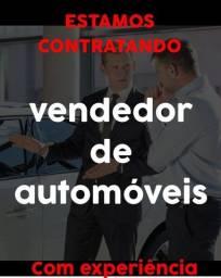 Vendedor de carros com experiência