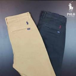 Título do anúncio: Calça masculina Sarja da Armani e Polo Ralf Lauren