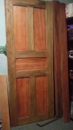 Porta de madeira mista nova