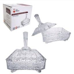Bomboniere Baleiro de Cristal/Vidro, Decorado,10cm por 3cm,NOVO/ ACEITO TROCAS