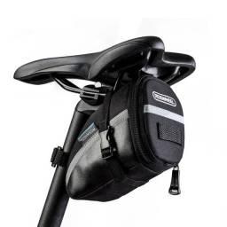 Bolsa bag case para Selim de bicicleta bike com detalhes refletivos