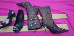 Linda bota marron cano medio +  scarpan via marte