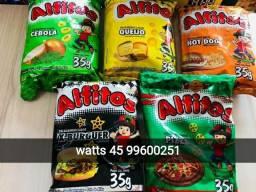 Título do anúncio: R$ 0,99   , salgadinhos Alfitos 35 g vários sabores . watts *