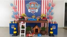 Título do anúncio: Painel de festa da patrulha canina + 6 pelúcias do tema