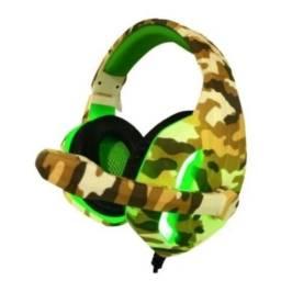 Headset Gamer C/ Led Caramelo/verde/preto - Deserto Px5