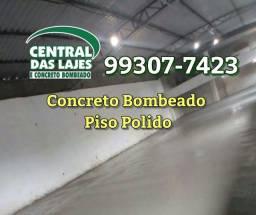 Concreto Bombeado e Polimento de Piso