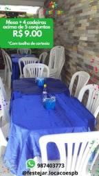 Título do anúncio: Mesa cadeira conjunto toalhas festa