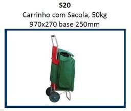 Carrinho de Carga com Sacola, 50kg 970x270 base 250mm