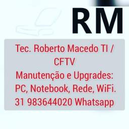 Título do anúncio: Técnico TI, Informática, Notebook, PC, Desktop, upgrade SSD, M2, Windows 10, BH