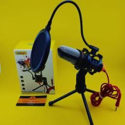 Microfone Condensador ( Para PC ) Com Pop-Filter