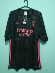 Camisa do Real Madrid Preta Masculina 2020/21