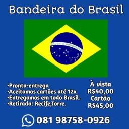 Bandeira do Brasil grande 90 cm por 150cm