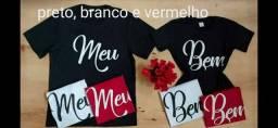 Kit dia dos namorados Camisa Feminina+ Masculino