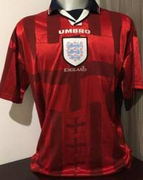 Camisa seleção Inglaterra Away FIFA World Cup 1998 Rara importada fc311f0ccb1b2