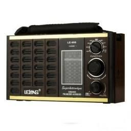 Radio am fm com usb sd 8 bandas caixa de som estilo antigo recarregável ? Lelong Le-606