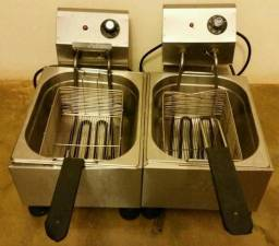 Fritadeira Elétrica com Duas Cubas - Linha profissional - Excelente oportunidade