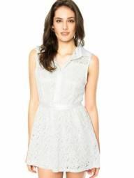 Vestido de renda facinelli off white