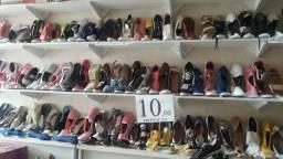 Lote de calçados 10 reais cada