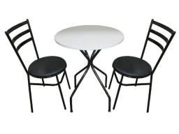 Título do anúncio: Jogo mesa redonda com 2 cadeiras para bares, restaurantes, padarias etc