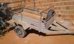 Reboque para carro 1.10x2.00 emplacado Morro doChapeu