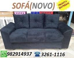 Peça Ja e Receba No Mesmo Dia Lindo Sofa 3 Lugares Com Almofadas Novo Apenas 499,00