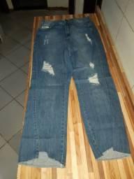 Calça em jeans de algodão Hering