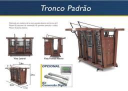 Tronco Padrão para contenção de gado com balança eletrônica de 2000 kg