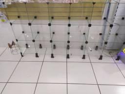 Vitrine de vidros 1,90 x 1,00m