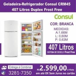 Geladeira-Refrigerador Consul CRM45 407 Litros Duplex Frost Free